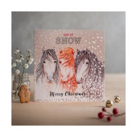 Deckled Edge Christmas Card Let it Snow
