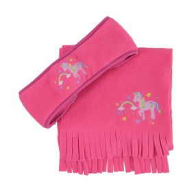Little Unicorn Head Band and Scarf Set by Little Rider-Pink