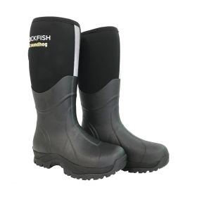 Rockfish Neoprene Lined Groundhog Wellington Boots Black