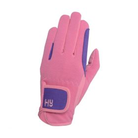 Hy5 Children's Two Tone Riding Gloves - Pink Purple