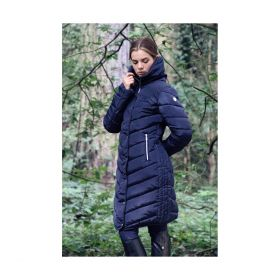 Coldstream Kimmerston Long Quilted Coat - Navy