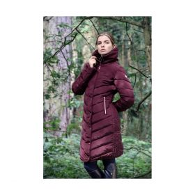 Coldstream Kimmerston Long Quilted Coat - Wine