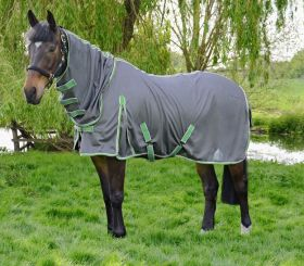 Hy Protect Full Neck Fly Rug-Grey - Mint-5'0 - EU 115 Clearance - HY