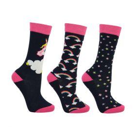 Little Unicorn Socks by Little Rider (Pack of 3)