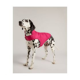 Joules Quilted Dog Coat - Raspberry