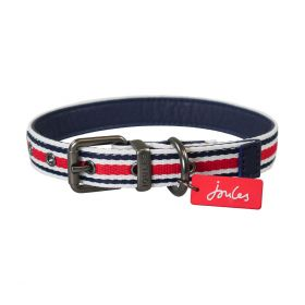 Joules Striped Dog Collar-XLarge Clearance