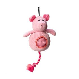 House of Paws Pig Cord Toy with Spiky Ball