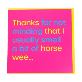 Gubblecote Humourous Greetings Card - Horse Wee
