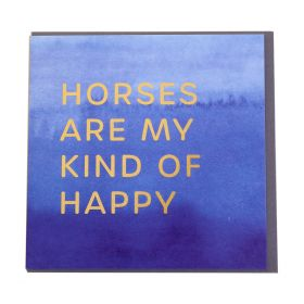 Gubblecote Foiled Greetings Card - My Kind Of Happy