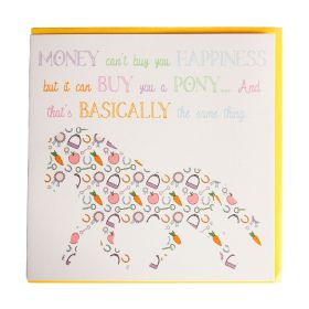 Gubblecote Beautiful Greetings Card Can't Buy You Happiness