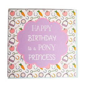 Gubblecote Beautiful Greetings Card - Pony Princess