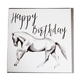 Gubblecote Beautiful Greetings Card - Horsedrawn Happy Birthday