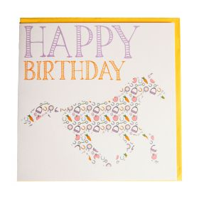 Gubblecote Beautiful Greetings Card - Thoroughbred Happy Birthday