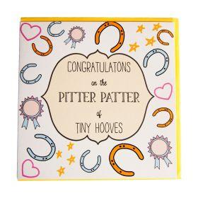 Gubblecote Beautiful Greetings Card - Pitter Patter