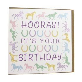 Gubblecote Beautiful Greetings Card - Hooray