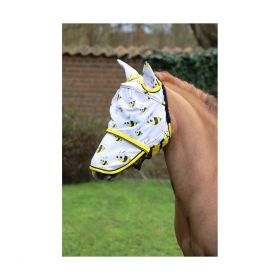Hy Equestrian Bee Fly Mask with Ears and Detachable Nose-Extra Full Clearance - HY