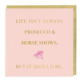 The Pink Selection Prosecco and Horse Shows Card