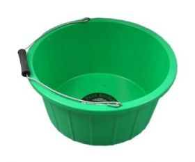 ProStable 3 Gallon Plastic Feed Bucket Green