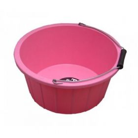 ProStable 3 Gallon Plastic Feed Bucket Pink
