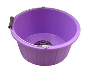 ProStable 3 Gallon Plastic Feed Bucket Purple