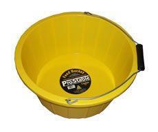 ProStable 3 Gallon Plastic Feed Bucket Yellow