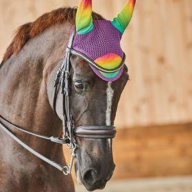 Weatherbeeta Prime Ombre Ear Bonnet-Rainbow Dream-Full (Large) Clearance - WeatherBeeta
