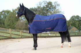 Bucas Recuptex Therapy Rug Pony Sizes 3'6 to 5'3 Navy - Orange