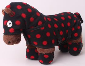 Crafty Ponies Snuggle rug set and instruction booklet Black - Red Spot
