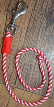 Crafty Ponies Leadrope and Instruction Booklet Red - White