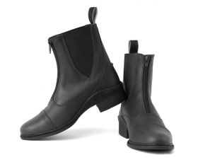RG Elite Detroit Front Zip Paddock Boot-BLK-41 -7 Clearance - Rhinegold