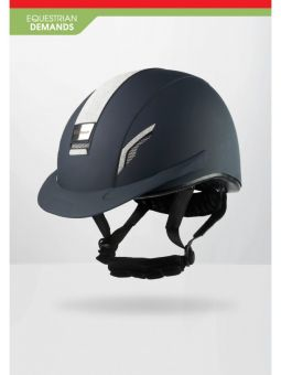 John Whitaker VX2 Sparkly Competition Approved Helmet  Navy - Silver