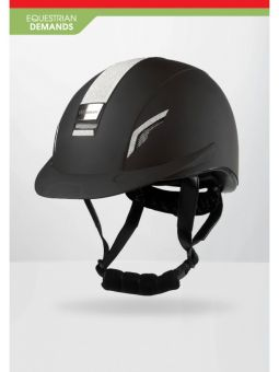 John Whitaker VX2 Sparkly Competition Approved Helmet  Black - Silver