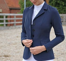 Hy Equestrian Roka Rose Show Jacket - Navy Rose Gold
