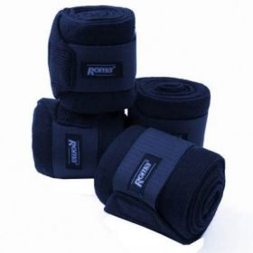 Roma Acrylic Stable Bandages 4 Pack  Navy