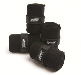 Roma Acrylic Stable Bandages 4 Pack  Black