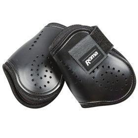 Roma Open Front Vent Fetlock Boots - Pony - Black - Clearance
