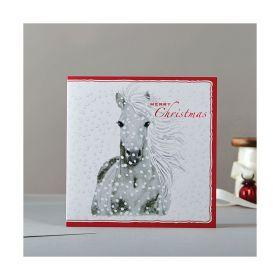 Deckled Edge Christmas Card Rosa Merry Christmas