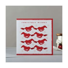 Deckled Edge Christmas Card Rosa - Christmas Wishes
