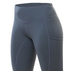 Equetech Revolution Riding Tights-Grey-Large 14-16 Clearance - Equetech