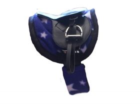 Crafty Ponies Saddle Cloth and matching Girth sleeve with instruction booklet Blue - White Star