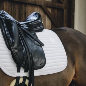 Kentucky Pearls Dressage Saddle Pad - White
