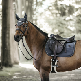 Kentucky Pearls Jumping Saddle Pad - Grey