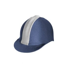 Saddlecraft Lycra Flash Hat Cover Navy - Silver