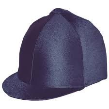 Saddlecraft Lycra Plain Hat Cover Navy