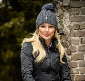 PS of Sweden Samantha Knitted Hat - Anthracite