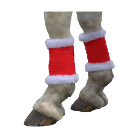 Hy Christmas Santa Pony Leg Wraps (Set of 4)
