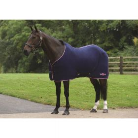Saxon Element Standard Neck Polar Fleece Rug-4'3 - EU 100-Navy & Pink Clearance - Saxon