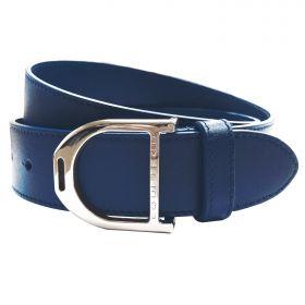 Equetech Stirrup Leather Belt 35mm Navy