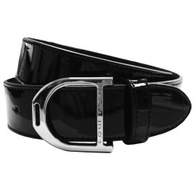 Equetech Stirrup Leather Belt 35mm Black Patent