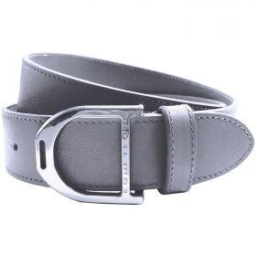 Equetech Stirrup Leather Belt 35mm Grey